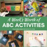 a week's worth of alphabet ideas