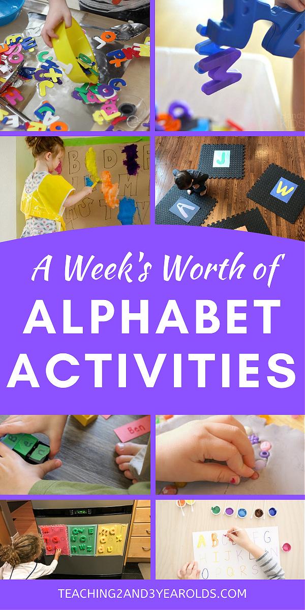 week's worth of alphabet ideas