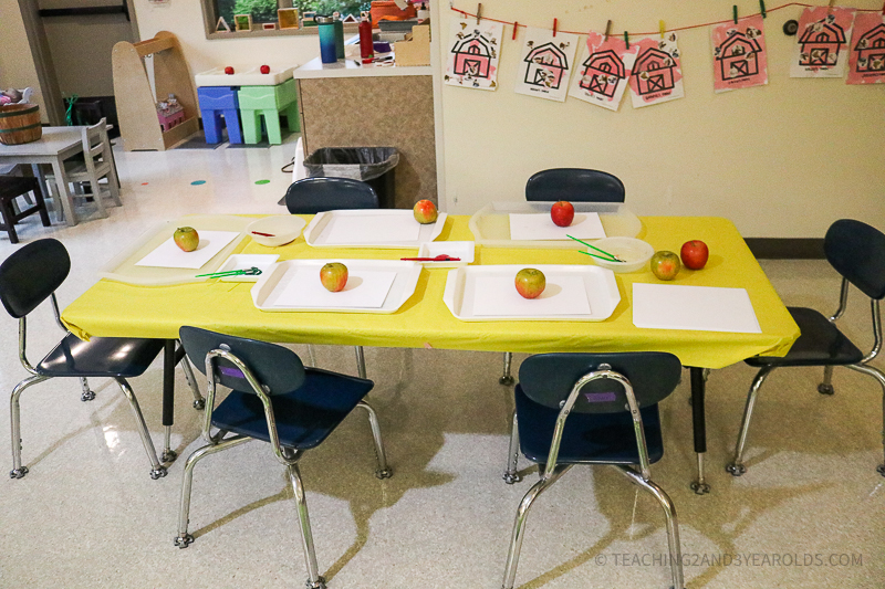painting with apples